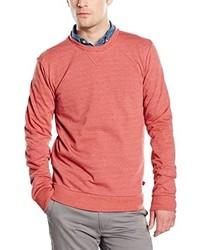 roter Pullover mit einem Rundhalsausschnitt von Benetton