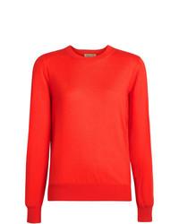 roter Pullover mit einem Rundhalsausschnitt von Burberry