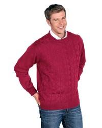 roter Pullover mit einem Rundhalsausschnitt von Classic