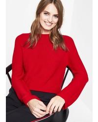 roter Pullover mit einem Rundhalsausschnitt von Comma