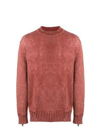 roter Pullover mit einem Rundhalsausschnitt von Diesel