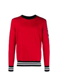 roter Pullover mit einem Rundhalsausschnitt von Dolce & Gabbana