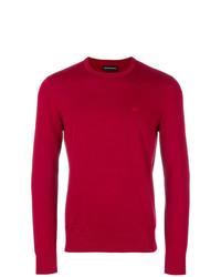 roter Pullover mit einem Rundhalsausschnitt von Emporio Armani