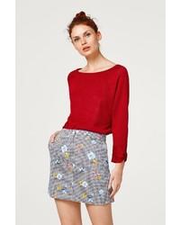 roter Pullover mit einem Rundhalsausschnitt von Esprit