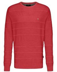 roter Pullover mit einem Rundhalsausschnitt von Fynch Hatton