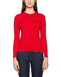 roter Pullover mit einem Rundhalsausschnitt von GANT