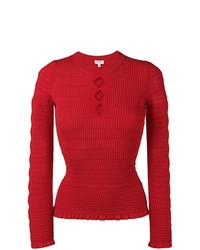 roter Pullover mit einem Rundhalsausschnitt von Kenzo