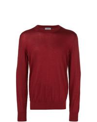 roter Pullover mit einem Rundhalsausschnitt von Lanvin