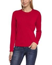 roter Pullover mit einem Rundhalsausschnitt von Maerz