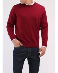 roter Pullover mit einem Rundhalsausschnitt von MAERZ Muenchen