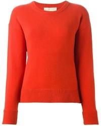roter Pullover mit einem Rundhalsausschnitt von MICHAEL Michael Kors