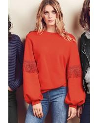 roter Pullover mit einem Rundhalsausschnitt von NEXT