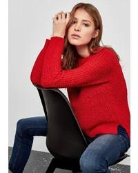 roter Pullover mit einem Rundhalsausschnitt von Q/S designed by