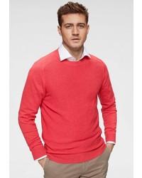 roter Pullover mit einem Rundhalsausschnitt von Roy Robson