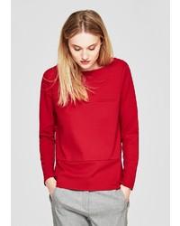 roter Pullover mit einem Rundhalsausschnitt von S.OLIVER RED LABEL