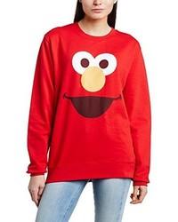 roter Pullover mit einem Rundhalsausschnitt von Sesame Street