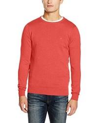 roter Pullover mit einem Rundhalsausschnitt von Tom Tailor
