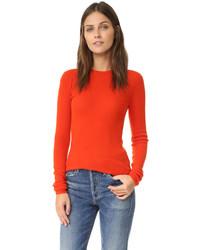 roter Pullover mit einem Rundhalsausschnitt von Vince