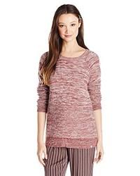 roter Pullover mit einem Rundhalsausschnitt von Volcom