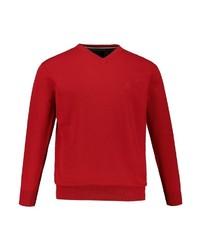 roter Pullover mit einem V-Ausschnitt von JP1880