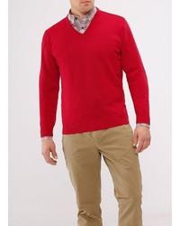 roter Pullover mit einem V-Ausschnitt von MAERZ Muenchen