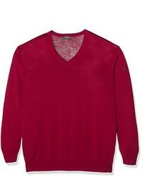 roter Pullover mit einem V-Ausschnitt von MÄRZ
