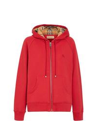 roter Pullover mit einer Kapuze von Burberry