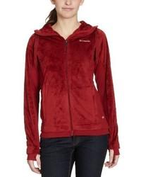 roter Pullover mit einer Kapuze von Columbia