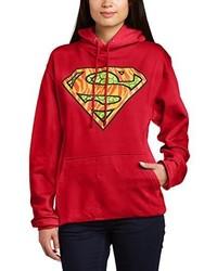 roter Pullover mit einer Kapuze von DC Universe