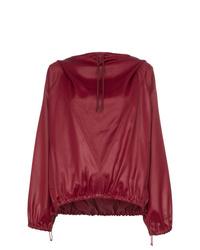 roter Pullover mit einer Kapuze von Givenchy