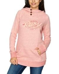 roter Pullover mit einer Kapuze von Roxy