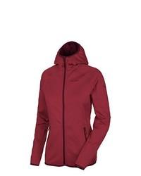 roter Pullover mit einer Kapuze von Salewa