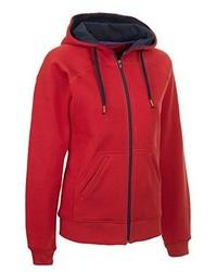 roter Pullover mit einer Kapuze von Select