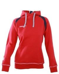 roter Pullover mit einer Kapuze von Twentyfour