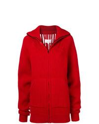 roter Pullover mit einem Reißverschluß von Maison Margiela