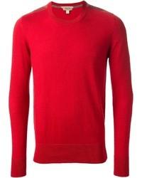 Roter pullover mit rundhalsausschnitt original 403002