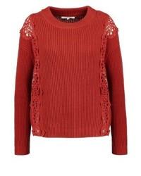 Roter Pullover mit Rundhalsausschnitt von mint&berry