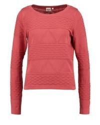 roter Pullover mit einem Rundhalsausschnitt von Object