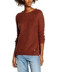 Roter Pullover mit Rundhalsausschnitt von Only