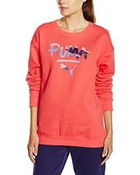 Roter Pullover mit Rundhalsausschnitt von Puma