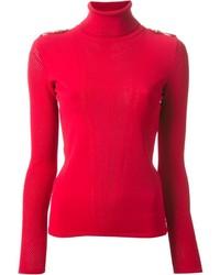 roter Rollkragenpullover von Versace