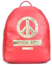 roter Rucksack von Love Moschino