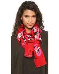 roter Schal mit Blumenmuster von Kate Spade