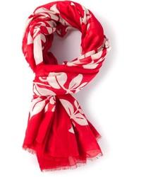 roter Schal mit Blumenmuster von Marc Jacobs