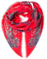 roter Schal mit Blumenmuster von Zadig & Voltaire