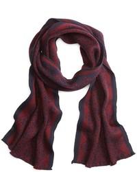 roter Schal mit Norwegermuster