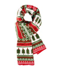 roter Schal mit Norwegermuster von Asos