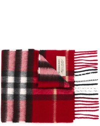 roter Schal mit Karomuster von Burberry