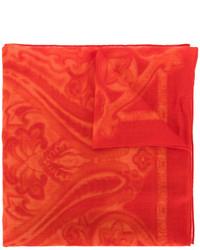 roter Schal mit Paisley-Muster von Etro