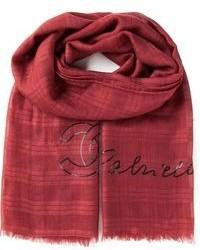 roter Schal mit Schottenmuster von Chanel